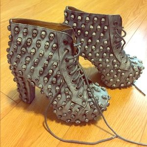 Jeffrey Campbell skulls Lita ankle boots size 7